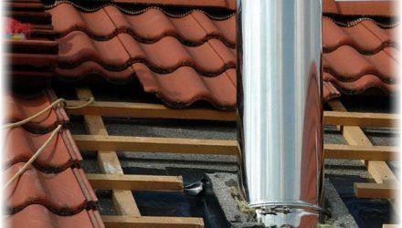Как вывести печную трубу через крышу и перекрытия