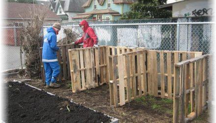 Как сделать ящик для компоста — организуем на саду компостную кучу