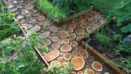 Садовая дорожка своими руками — как сделать ее из дерева