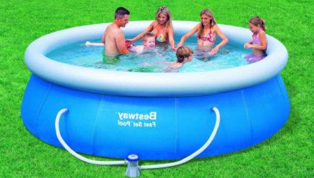 Как и какой выбрать бассейн для дачи — надувной, каркасный или композитный
